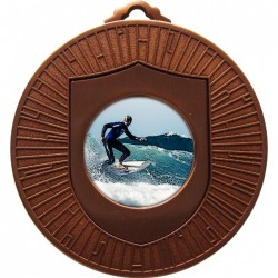Bronze Surfing Medal 60mm