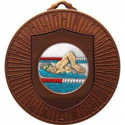 Bronze Swimming Medal 60mm