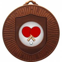 Bronze Table Tennis Medal 60mm