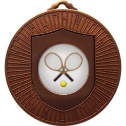 Bronze Tennis Medal 60mm