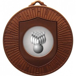 Bronze Ten Pin Bowling Medal 60mm