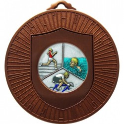 Bronze Triathlon Medal 60mm