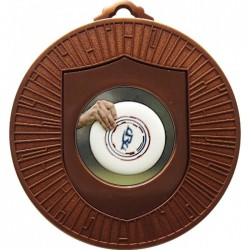 Bronze Frisbee Medal 60mm