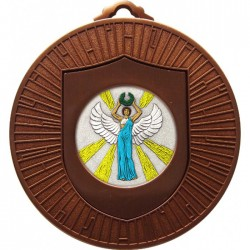 Bronze Victory Female Medal 60mm