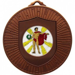 Bronze Victory Male Medal 60mm