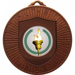 Bronze Victory Torch Medal 60mm
