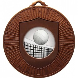 Bronze Volleyball Medal 60mm