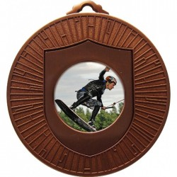 Bronze Wake Boarding Medal 60mm