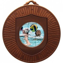 Bronze Water Polo Medal 60mm