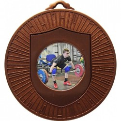 Bronze Weightlifting Medal 60mm