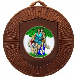 Bronze Cross Country Medal 60mm