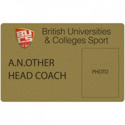 Gold Plastic Credit Card Sized Badge