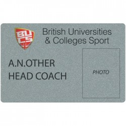 Silver Plastic Credit Card Sized Badge