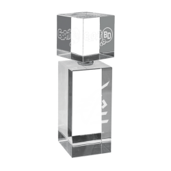 Crystal Bottle Award 14cm