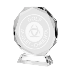 Clear Glass Octagon Award 15cm
