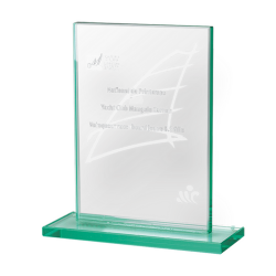 Jade Glass Rectangle Award Small