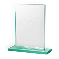 Jade Glass Rectangle Award Medium