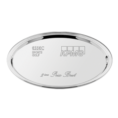 Oval Silver Plated Salver 22cm