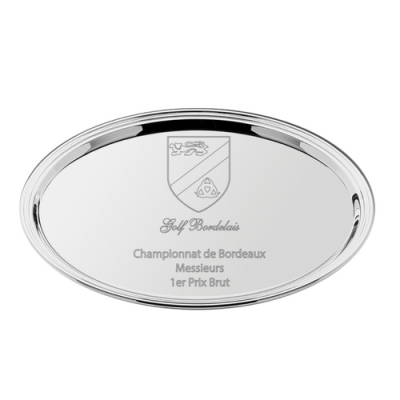 Oval Silver Plated Salver 42cm