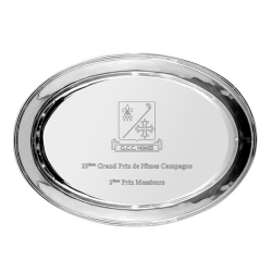 Oval Silver Plated Salver 30cm