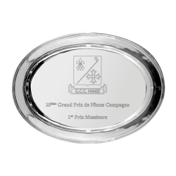 Oval Silver Plated Salver 36cm