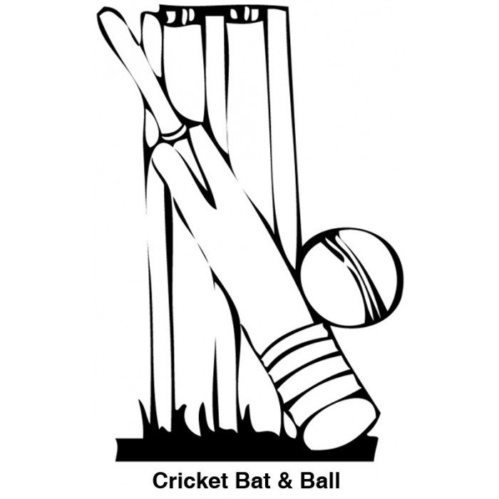 Cricket Bat And Ball Clip Art Black And White