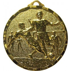 Gold 50mm Male Football Medal