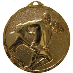 Gold 50mm Rugby Medal