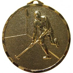 Gold 40mm Male Hockey Medal