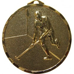 Gold 50mm Male Hockey Medal