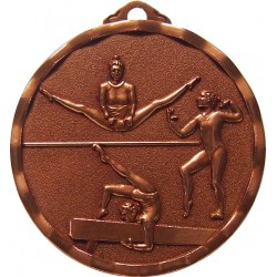 Bronze 40mm Female Gymnastics Medal