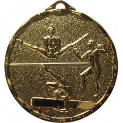 Gold 40mm Female Gymnastics Medal