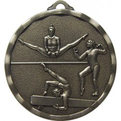 Silver 40mm Female Gymnastics Medal