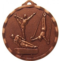 Bronze 40mm Male Gymnastic Medal