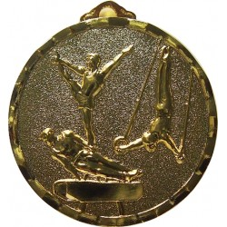 Gold 40mm Male Gymnastics Medal