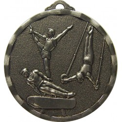 Silver 40mm Male Gymnastics Medal
