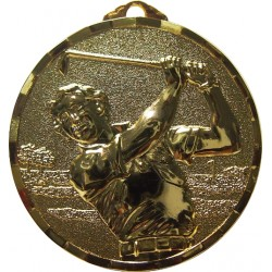 Gold 50mm Male Golf Medal