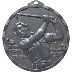 Silver 50mm Male Golf Medal