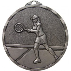 Silver 40mm Female Tennis Medal