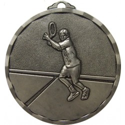 Silver 40mm Male Tennis Medal