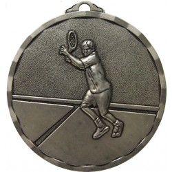 Silver 50mm Male Tennis Medal