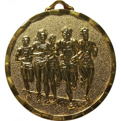 Gold 40mm Marathon Medal