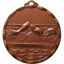 Bronze 40mm Swimming Medal