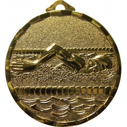 Gold 40mm Swimming Medal
