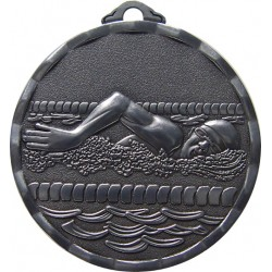 Silver 40mm Swimming Medal