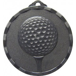 Silver 40mm Golf Ball and Tee Medal