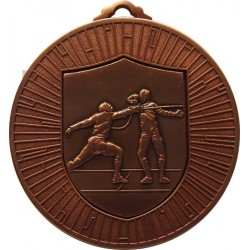 Bronze 60mm Fencing Medal