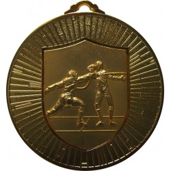 Gold 60mm Fencing Medal