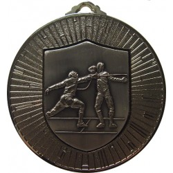 Silver 60mm Fencing Medal