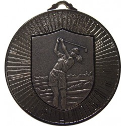 Silver 60mm Female Golf Medal